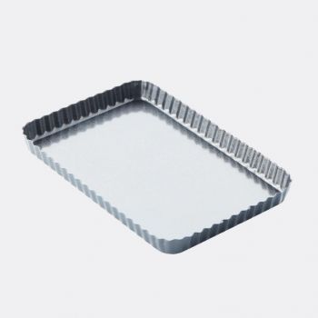 Point-Virgule geribde taart-/quichevorm anti-aanbakl./losse bodem 31x21x3cm