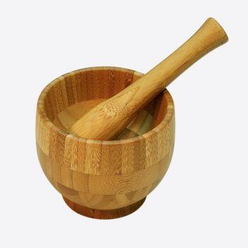 Point-Virgule vijzel en stamper uit bamboe ø 12cm H 10cm