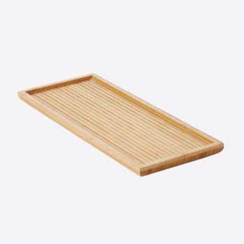 Point-Virgule theedienblad met reliëf uit bamboe klein 38x15.5x2cm