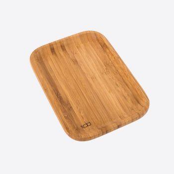 Point-Virgule dienblad uit bamboe klein 21x14.5x1.9cm