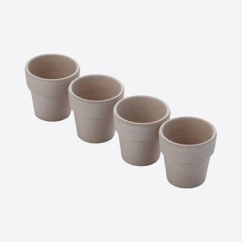 Point-Virgule set van 4 eierdopjes uit bamboevezel cementgrijs