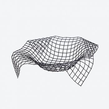 Point-Virgule Wire Envelope mand zwart 30x30x7.5cm