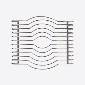 Point-Virgule panonderzetter uit chroom 29x25x3.5cm