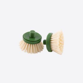 Point-Virgule set van 2 borstelkoppen voor afwasborstel uit bamboe
