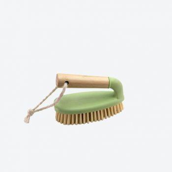 Point-Virgule schuurborstel met handvat uit bamboe en gerecycl. kunststof 14.5x7x9.5cm