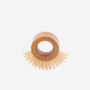 Point-Virgule schuurborstel met ringvormig handvat uit bamboe 9x8x3.5cm