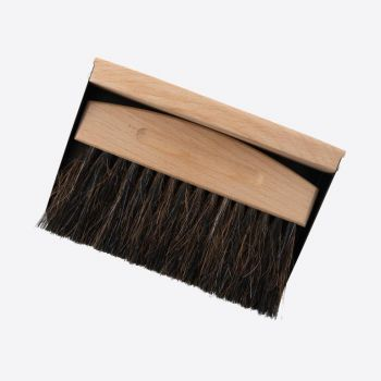 Point-Virgule kruimelveger uit bamboe en paardenhaar met blik zwart 15.5x10.7x4cm