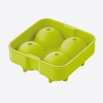 Point-Virgule ijsballenvorm uit silicone voor 4 ijsballen groen ø 4.5cm