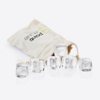Point-Virgule set van 6 crystalstones met zakje (12st./disp.)