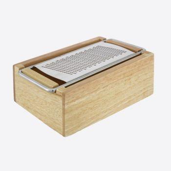 Point-Virgule anti-slip kaasrasp rvs - houder hout 18.2x1.8x7cm