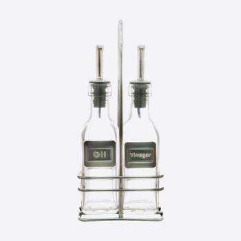 Point-Virgule olie- en azijnset uit glas 2x150ml