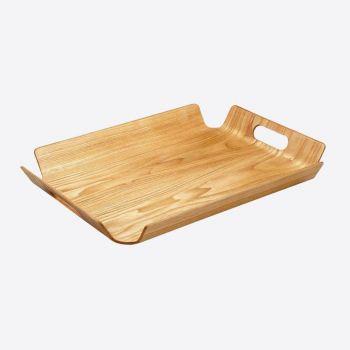 Point-Virgule dienblad met handgrepen houtkleur 55x40x5cm