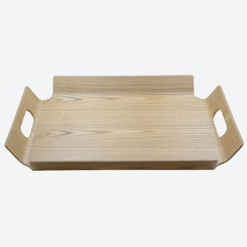 Point-Virgule dienblad met handgrepen houtkleur 44.5x33.5x4.5cm
