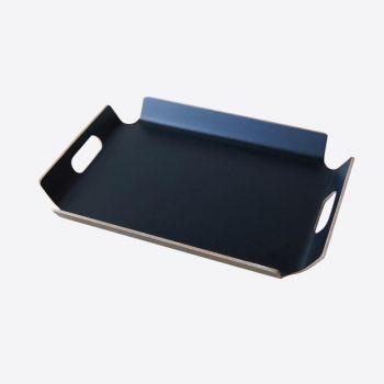 Point-Virgule dienblad met handgrepen zwart 44.5x33.5x4.5cm