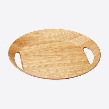 Point-Virgule ovalen dienblad houtkleur 46x41x4cm