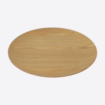 Point-Virgule ronde serveerschaal houtkleurig ø 41cm H 3cm