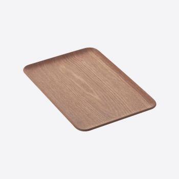 Point-Virgule rechthoekig dienblad walnoot 33x23cm