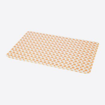 Point-Virgule placemat uit silicone oranje 45x30cm
