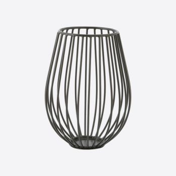 Point-Virgule Wire kaarshouder zwart ø 14cm H 18cm