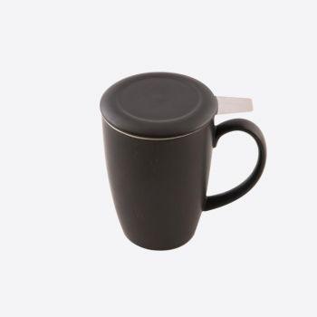 Point-Virgule mok met thee infuser en deksel mat zwart 400ml