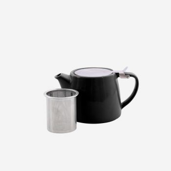 Point-Virgule theepot met thee infuser mat zwart 500ml