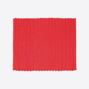 Point-Virgule geribbelde placemat rood 35x45cm (per 28st.)