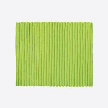 Point-Virgule geribbelde placemat groen 35x45cm (per 28st.)