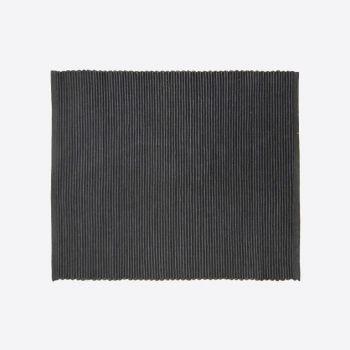 Point-Virgule geribbelde placemat zwart 35x45cm (per 28st.)