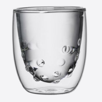 QDO Elements set van 2 dubbelwandige glazen Water 75ml