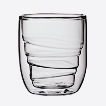 QDO Elements set van 2 dubbelwandige glazen Wood 75ml