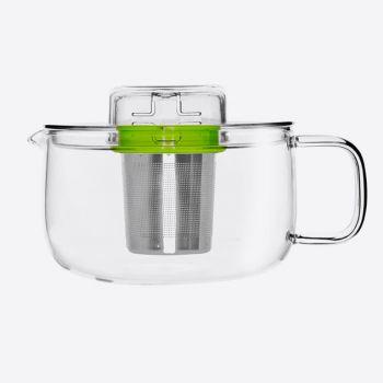 QDO Me Pot theepot uit glas met infuser groen 500ml