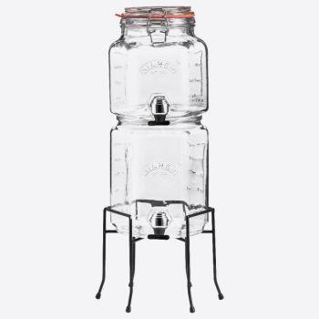 Kilner set van 2 stapelbare drankdispensers met houder 2L & 3L (per 2st.)