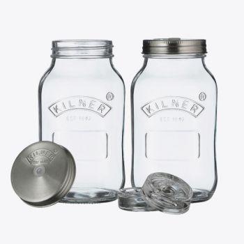 Kilner set om te fermenteren met 2 glazen bokalen 1L