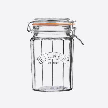 Kilner gefaceteerde glazen bokaal met beugelsluiting 950ml