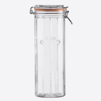 Kilner gefaceteerde glazen bokaal met beugelsluiting 2.2L