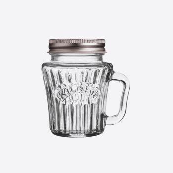 Kilner Vintage glazen beker met handvat en zilverkleurig deksel 110ml (per 12st.)