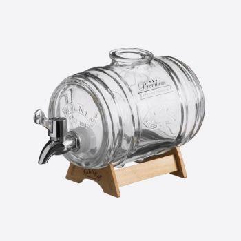 Kilner drankdispenser Barrel met houten staander 1L