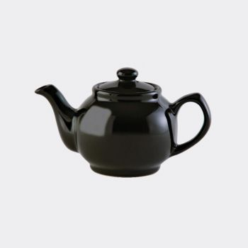 Price & Kensington 2-kops theepot glanzend zwart 450ml (per 3st.)