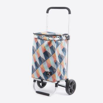 Rixx shopping trolley geometric heldere kleuren 30L