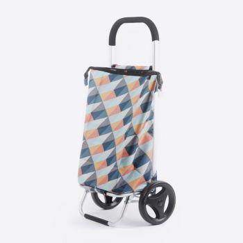 Rixx shopping trolley geometric heldere kleuren 38L