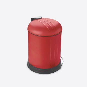 Rixx pedaalemmer met zachtsluitend deksel mat rood 5L