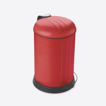 Rixx pedaalemmer met zachtsluitend deksel mat rood 12L