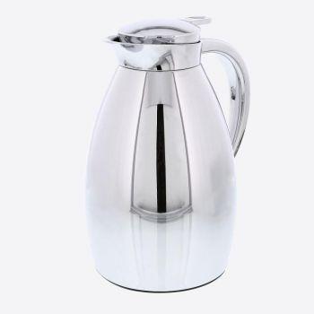 Rixx isoleerkan met glazen binnenfles zilvergrijs 1L