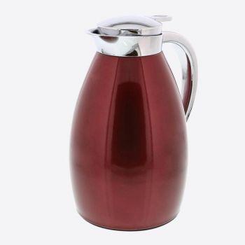 Rixx isoleerkan met glazen binnenfles metallic rood 1L
