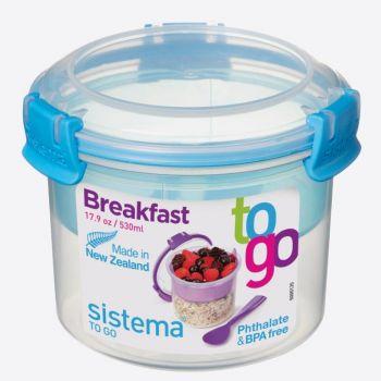 Sistema To Go ontbijtkom met compartiment Breakfast 530ml (6 ass.)