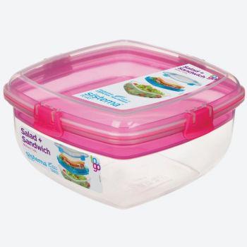 Sistema To Go Salad & Sandwich slakom met boterhamlade 1.63L (4 ass.)