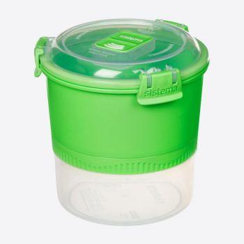 Sistema Lunch Stack To Go lunchbox 2 delen met lepel/vork 990ml (3 ass.)