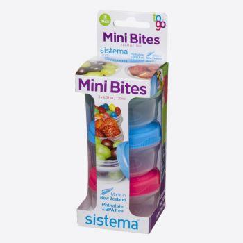 Sistema To Go set van 3 snackdoosjes Mini Bites 130ml (8 ass.)