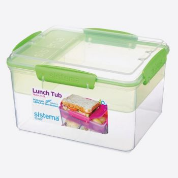 Sistema To Go lunchbox met 4 compartimenten Lunch Tub 2.3L (4 ass.)