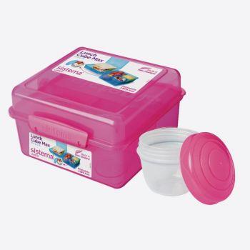 Sistema Vibe Lunch lunchbox Cube met yoghurtpotje 2L blauw